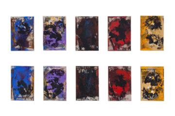 Billedserie af Thomas Højrup: Rytmesekvens #2 - 10 malerier