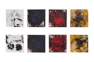 Billedserie af Thomas Højrup: Rytmesekvens #3, 8 malerier